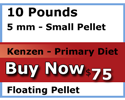 kenzen buy 10 pounds 5mm floating Primary Diet koi food